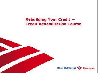 Rebuilding Your Credit A Bank of America Guide
